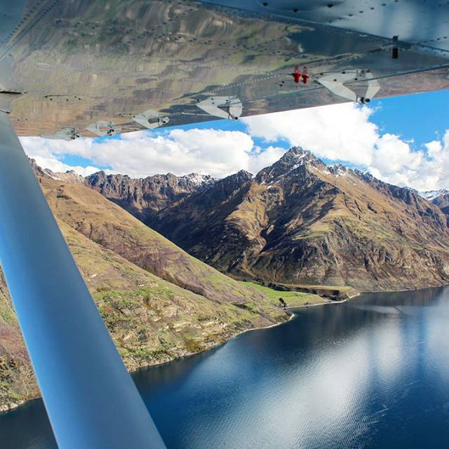 Flying over Lake Wakatipu was an incredible sight this afternoon. Perfectly still conditions on the lake meant for some amazing reflections!