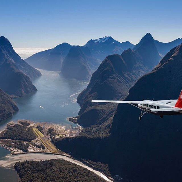 Who's up for some Milford Sound Magic?! #MilfordSoundScenicFlights #Adventure #DestinationNZ #NZSummer #MilfordSound