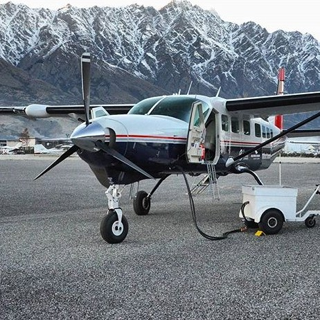 Preparing for an early morning flight to Milford Sound. Nice to see the snow back on The Remarkables.