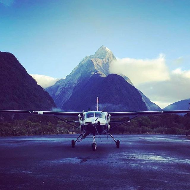 Why work behind a desk when your office can look like this? #milfordsoundscenicflights #DestinationQueenstown #Queenstown #MilfordSound