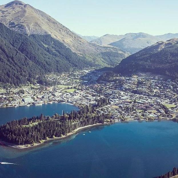 Our Beautiful #Queenstown From Above! #MilfordSoundScenicFlights #Adventure #DestinationNZ #NZSummer #MilfordSound