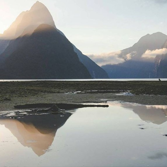 A perfectly still moment in Milford Sound captured by @lukethurlby